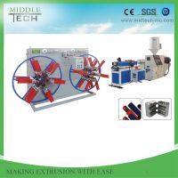 China Hot Selling HDPE Single Wall High Speed Corrugated Pipe Production Line