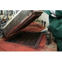 Rubber tile production plant