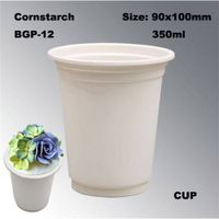 High Quality Disposable Cornstarch Tableware Cup 12oz thumbnail image