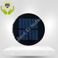 3V 100mA 0.3W Diameter 80mm Epoxy Round Solar Cell