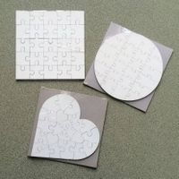 imprintable 3mm MDF puzzles for sublimation printing thumbnail image
