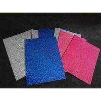 colored sticky craft glitter foam sheet for kids