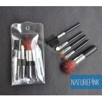 High Quality 5PCS Makeup Brush with PVC Cosmetic Case Wood Handle