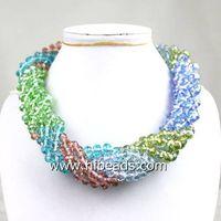 """18"""" 6 rows multicolor crystal necklace"""