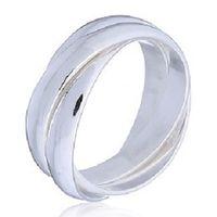 Interlocked Triple plain 925 Band Ring