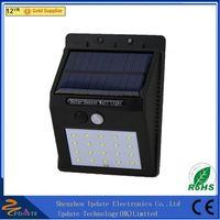 Motion sensor solar wall mounted lamp 8/10/16/20 LED garden light thumbnail image