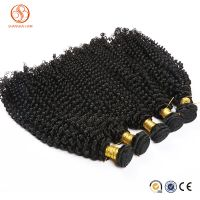 Kinky Curly Remy Human Hair Extensions Wefts