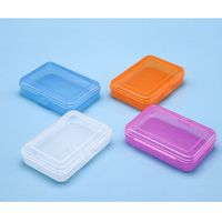 Factory OEM Foldable Box Plastic Storage Container Labeling Silk-Screen Cotton Swab Holder thumbnail image
