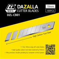 Breakaway blades for box cutter
