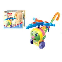 Push pull toys lighting plastic toys helicopter