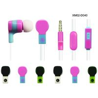 Go pro  promotional metal flat cable new design stereo earphone