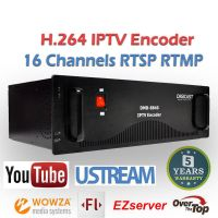 (DMB-8840 Classic) HD H.264 15-Channel IP Video Encoder Wifi for Wowza server FMS server