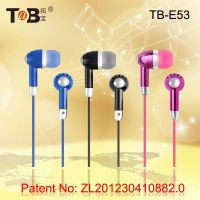 In-ear earphone earbuds with noise isollation for portable music player phone
