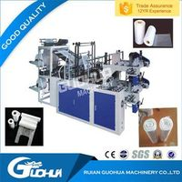 plastic continuous rolling bag making machine
