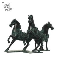 outdoor large park decoration bronze garden horse sculptures