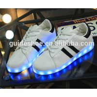GD luminous lamp LED seven colorful one shoes USB charging adult shoes