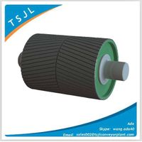 Rubber lagged pulley for cement industry