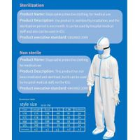 disposable sterile and non-sterile protective clothing for ICU and non-ICU protection purpose thumbnail image