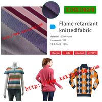 100% cotton knitted Flame retardant farbic