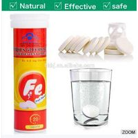 Anti iron deficiency anemia ferrous gluconate effervescent tabelt