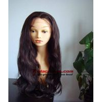 Stock 26 inch Body Wave Indian Remy Human Hair Full Lace Wigs