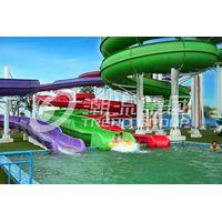 Fiberglass spiral water slide for water theme park