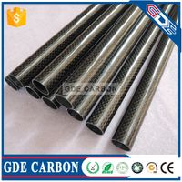 GDE 100% Glossy/Matte Carbon Fiber Tube/Tubing/Pipe