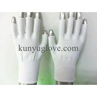 13 guage nylon half hand/finger knitting glove,open finger glove thumbnail image
