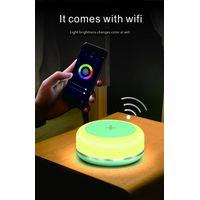 Newest Popular Design Portable Wireless Charging Atmosphere Lamp Charging Pad Wireless Charger 15W P