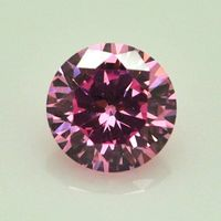 Korea Style Sparkling Pink Round Cubic Zirconia Gems Jewelry Natural Loose Stones
