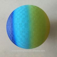 rainbow volleyball/inflatable beach ball/ground PVC ball(EN71)