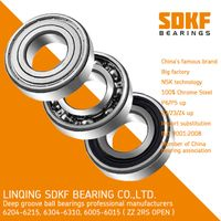 SDKF 6206ZZ-2RS C3 Premium Sealed Ball Bearing, 30x62x16mm