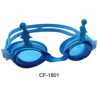 Fashion funny silicone kids swimming goggles with anti-fog lens thumbnail image