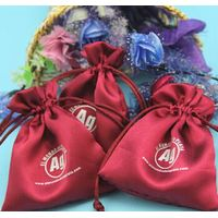 fashion custom-made various color drawstring satin gift pouch bag
