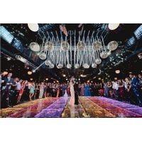LED 3D mirror Dance Floor use for wedding event thumbnail image