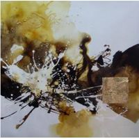 ABSTRACT OIL PAINTING ON CANVAS AB002-1 90x90CM