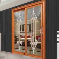 double wrought aluminium sliding entry doors for patio