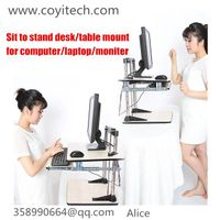 Height Adjustable computer sit to stand desk table standing desk