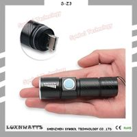 Made in China lightweight mini torch light USB charging flashlight