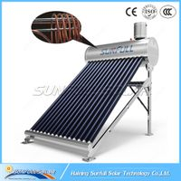 Copper coil pre-heating pressurized stainless steel solar water heater by SUNFULL SOLAR thumbnail image