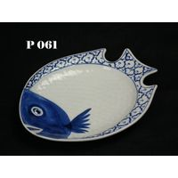 Thailand Ceramic dish fish shape dinnerware tableware porcelain