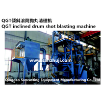 QGT inclined drum shot blasting machine