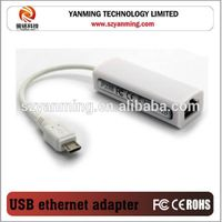 wired micro usb 2.0 to rj45 network adapter with AX88772A chip