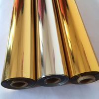 Plastic Application Mirror Gold PET Hot Stamping Foil For ABS Double Color Sheet