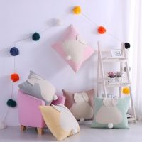Cartoon Cushion Cover Knitted Cotton Throw Pillows Square 1818 inches Decorative Pillows Case Cover thumbnail image