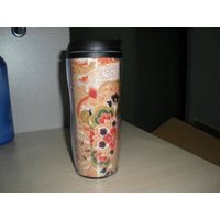 double wall plastic cup can inset ad paper