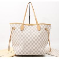 Used Handbag LOUIS VUITTON M41361 Neverfull MM Damier Azur Shoulder and Tote bags for bulk sale only