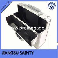 Solid silver outlook aluminium wheeled briefcase