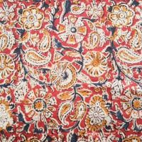Kalamkari hand blocked cotton fabric thumbnail image