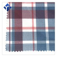 Factory supply cheap polyester plaid garment fabric
